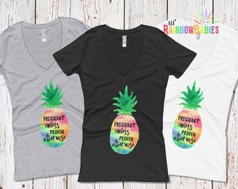 Pregnant Unless Proven Otherwise Pineapple Shirt, PUPO Pineapple T-Shirt, IVF Gift, Infertility Gift For Women, Fertility, Pineapple Gift