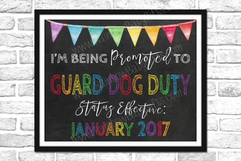 I'm Being Promoted To Guard Dog Duty Pregnancy image 0