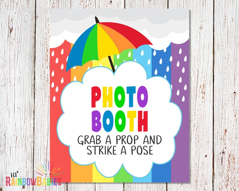 PRINTABLE Grab A Prop And Strike A Pose Sign Photo Booth image 0