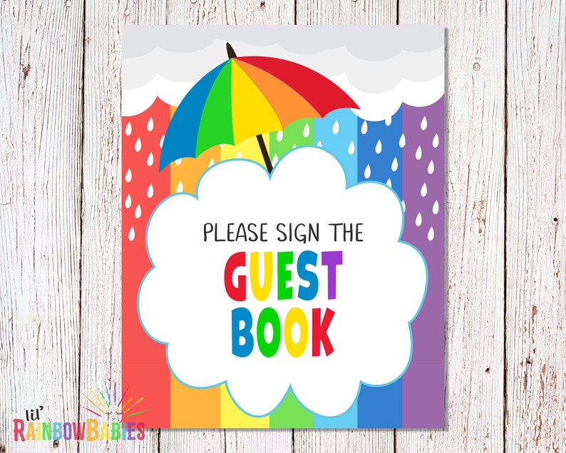PRINTABLE Please Sign The Guest Book Sign Baby Shower Party image 0