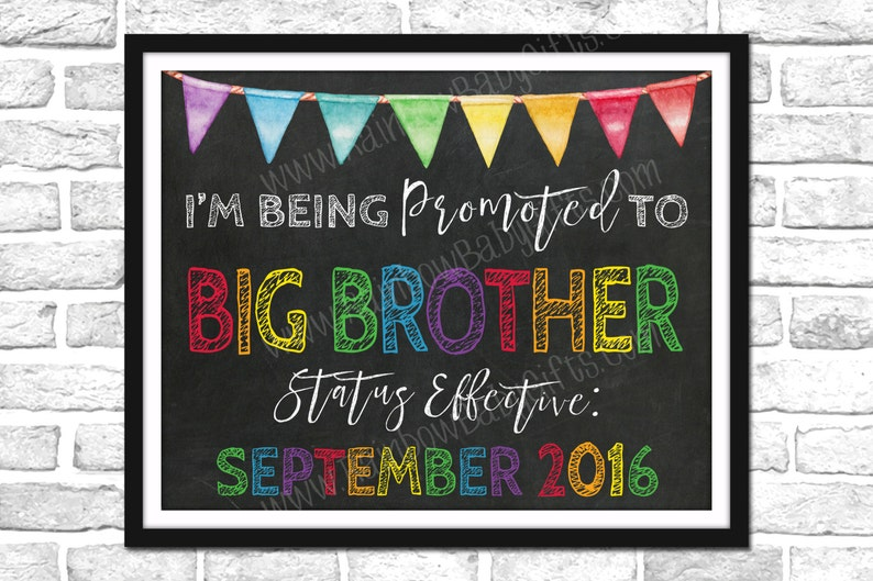 I'm Being Promoted To Big Brother Pregnancy Announcement image 0