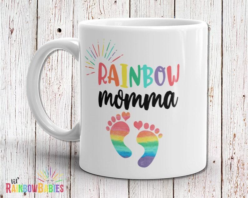 Rainbow Baby Gift Rainbow Baby Shower Gift Baby Mug Rainbow image 0