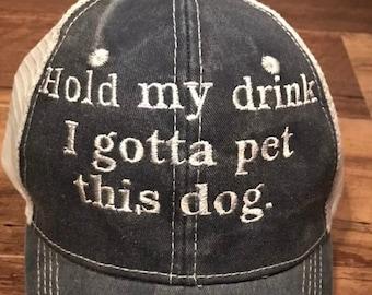 f6532396 Hold my drink I gotta pet this dog