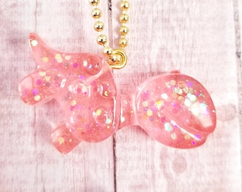 Pink Jelly Resin Dinosaur Charms
