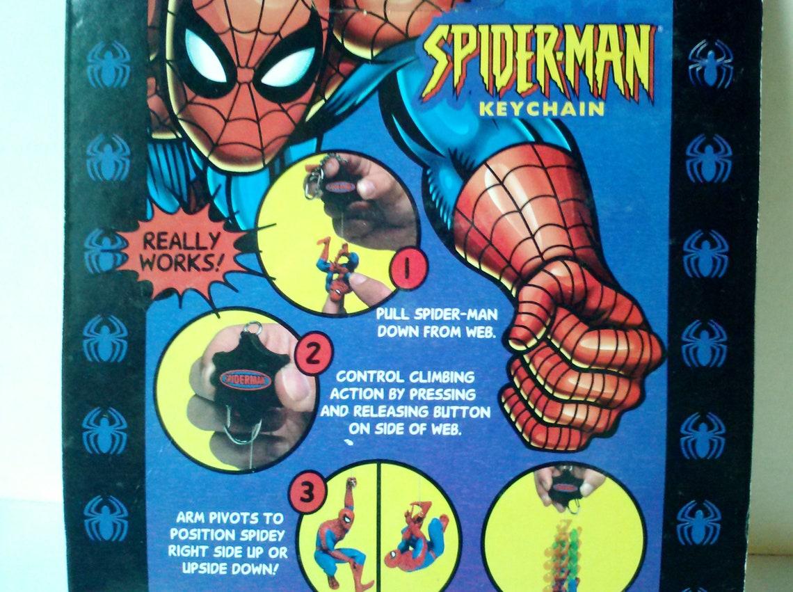 spiderman action keychain web climbing action marvel