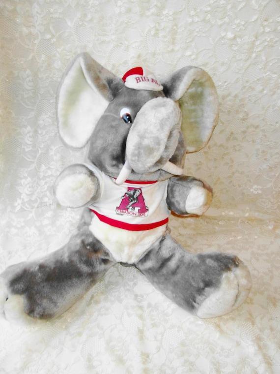 Plush Big Al Elephant Mascot Roll Tide Alabama Football Etsy