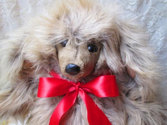 Plush Shaggy Poodle Dog Big Beige Long Hair Dog Floppy Ears Stuffed Animal Dog Toy Doll Dog Lover Gift Fairview Taiwan