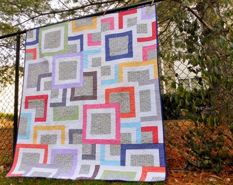 Hip to Be Square throw quilt