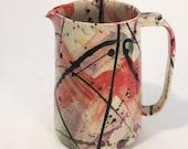 Splatterware pitcher Handmade stoneware