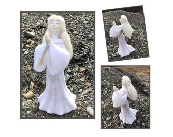 Compassionate Supplication, a symbol of faith, love, prayer for humanity in times of need - All wool, hand sculpted