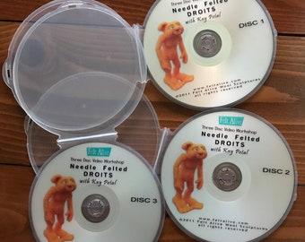 How-To Needle Felt DVDs, Vintage Slightly Used, Felt Alive &  Sarafina Fiber Art Needle Felting Tutorials for Beginner, Intermediate Levels
