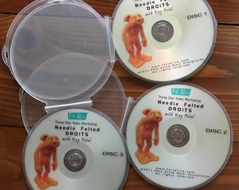 How-To Needle Felt DVDs, Vintage Slightly Used, by Felt Alive - Needle Felting Tutorials for Beginner, Intermediate Levels