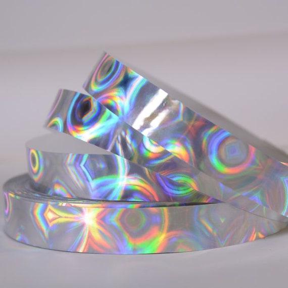 Cinta Verde Brillo Holográfico Cinta Manualidades Lámina Metálica X 2 Rollos