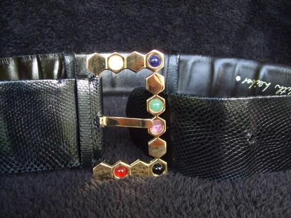 Vintage Judith Leiber Gemstone Gold Tone Belt , St
