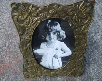 Vintage Art Nouveau Revival Brass or Brass Plated Frame