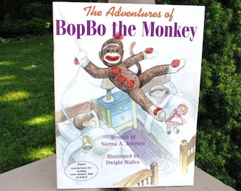 Sock Monkey Book The Adventures of BopBo the Monkey Children's Book