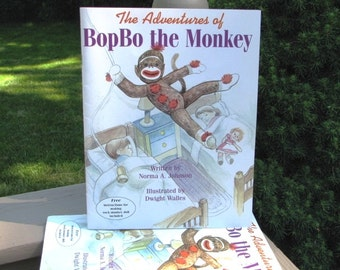 Children's Book BopBo Sock Monkey Book The Adventures of BopBo the Monkey