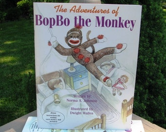 Sock Monkey Book The Adventures of BopBo the Monkey Childrens Book