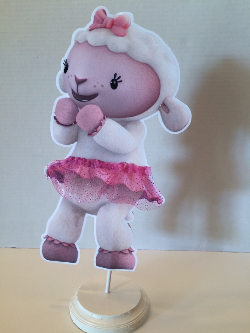 Doc Mcstuffins Lambie or Stuffy double sided centerpieces Two for 20.00