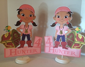 Izzy and the neverland pirates double sided and personalized centerpiece. 12.00