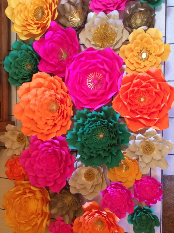 large flower template 3 template has 9 different size petals etsy