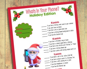 Christmas Party Game Etsy