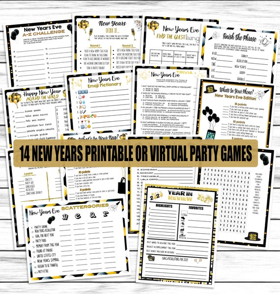 14 New Years Eve Games NYE Party Games Trivia Adults Kids