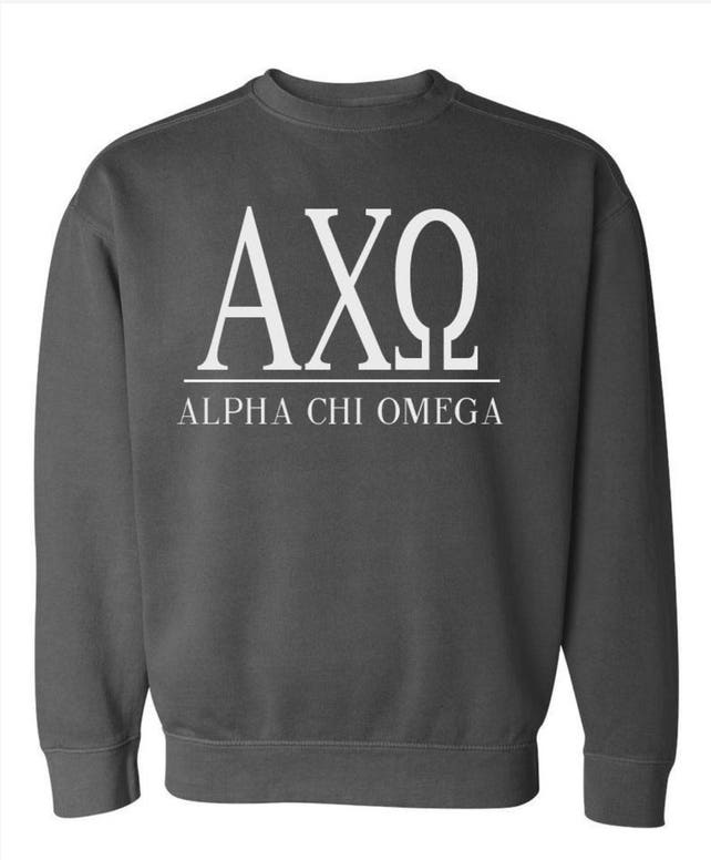 c1db4b378 Alpha Chi Omega Comfort Colors Sweatshirt Greek Letter