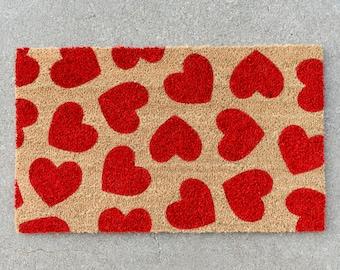 Heart Doormat, Cute Doormat, Valentine's Day Decor, Welcome Mat, Love, Outdoor Rug, Valentine's Day, Doormat, Porch Decor, Entryway, Rug