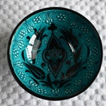 Turquoise Ceramic Bowl, small bowl for trinkets and food