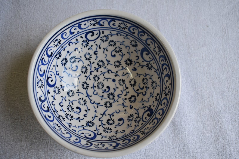 Blue and White Ceramic Bowl small  bowl perfect for trinkets image 0