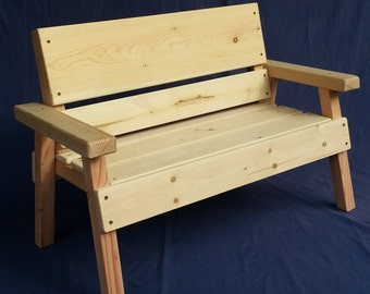 Nice DIY Project, Unfinished Kids Solid Wood Bench, Toddler+ Boy Or Girl,  Childrens Furniture Ready To Paint Or Stain, Reclaimed Wood