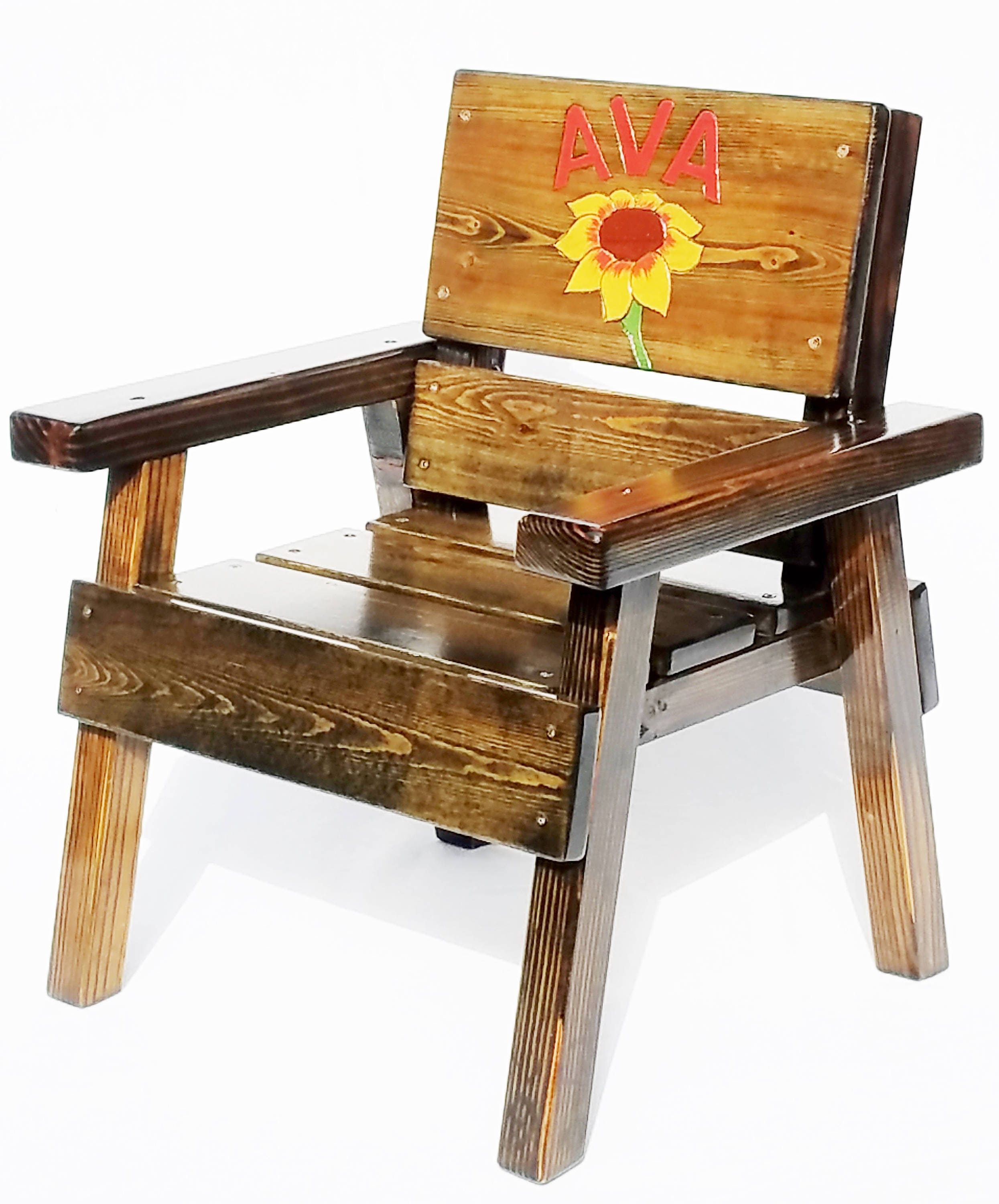 zoom Personalized Kids Gift Wood Kids Chair