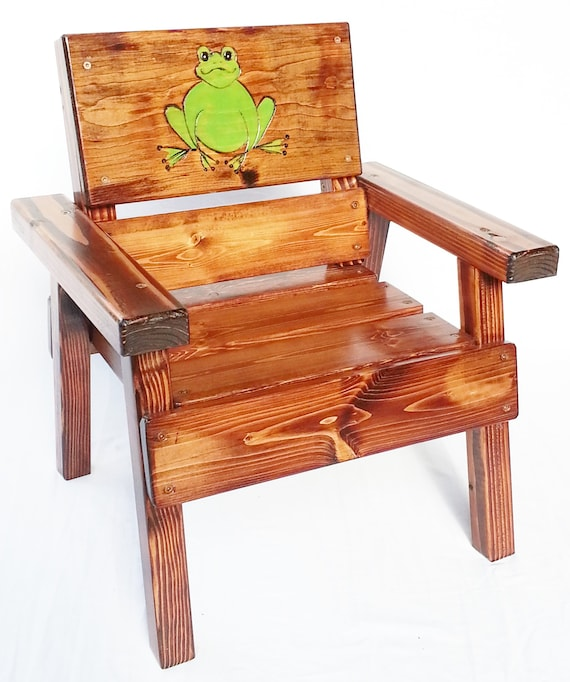 Outdoor Furniture Kids Wood Patio Chair, Reclaimed Wood Outdoor Furniture
