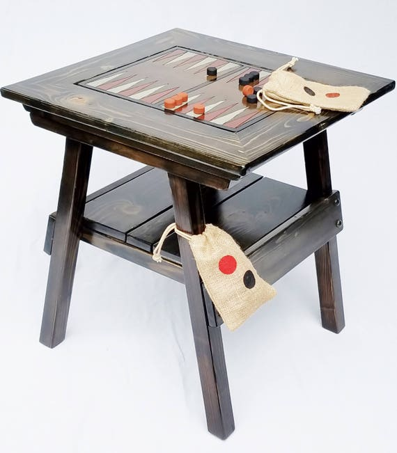 Etonnant Backgammon Game / Checkers Game Table Outdoor Wood Furniture