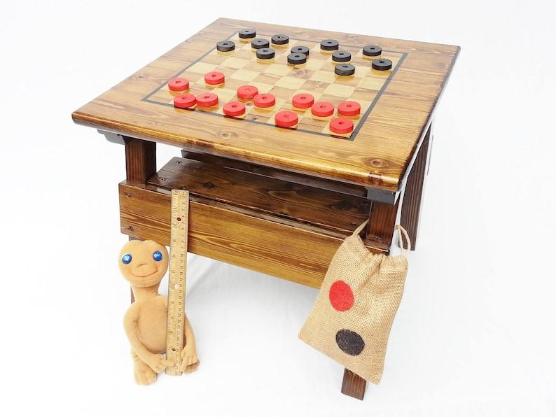 Tavoli Da Gioco Per Bambini : Mobili per bambini per bambini dama tavolo da gioco ragazzo etsy