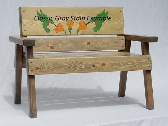 Miraculous Childs Personalized Garden Bench Kids Indoor Outdoor Friendship Gift Wood Patio Furniture Cottage Farm Folk Art Toddler Decor Engraved Caraccident5 Cool Chair Designs And Ideas Caraccident5Info