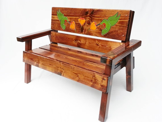 Awe Inspiring Outdoor Furniture For Children Kids Patio Garden Bench Heirloom Gift Toddler Reclaimed Wood Country Cottage Engraved Hummingbird Andrewgaddart Wooden Chair Designs For Living Room Andrewgaddartcom