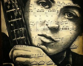 Giclee print of Paul McCartney
