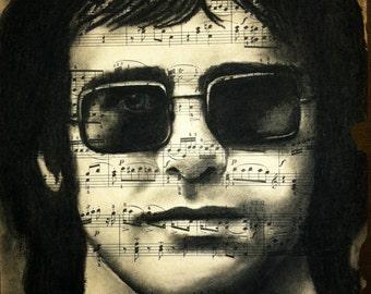 Giclee print of Elton John