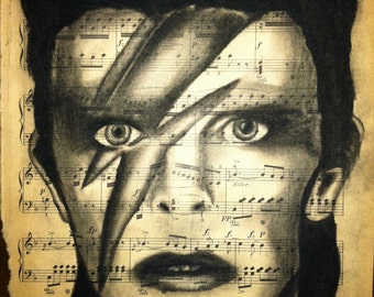 Giclee print of David Bowie