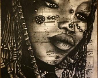 Nigerian Sahel Girl, Limited Giclee Print