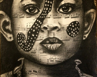 African Omo Valley Girl, Limited Giclee Print