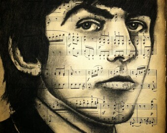 Giclee print of George Harrison
