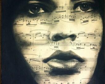 Giclee print of Mick Jagger