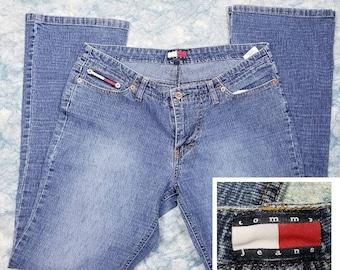 7c3310b6d Vintage Tommy Hilfiger Flare Jeans~Retro Denim Jeans Fashion~90s Style  clothes~Boho Chic~Women's Vintage Clothing~Boho Chic~Tommy Jeans~logo