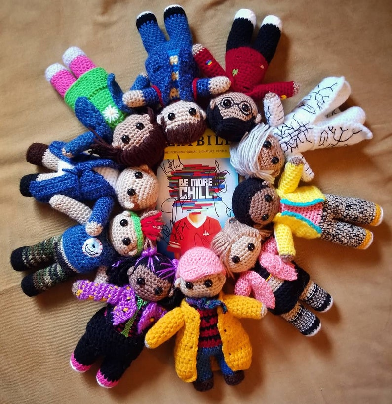 Michael Mell from Be More Chill Crochet Doll - George Salazar doll