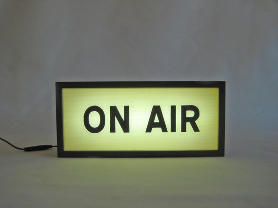 on air sign handcrafted wooden light box signs light up etsy