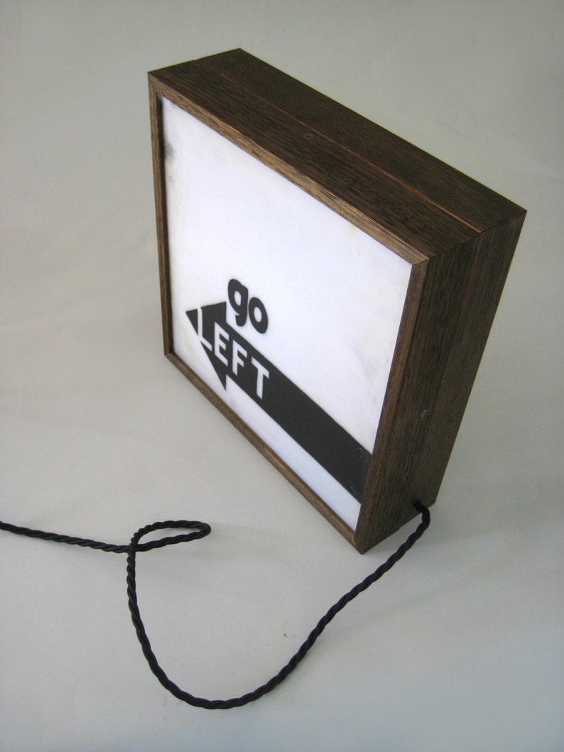 Double Sided Light Box Sign Handcrafted Wooden Lightbox, When Nothing Goes  Right Go Left Hand Painted Inspirational Quotes