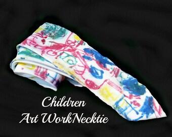 men's necktie, colorful tie, designer necktie, children art work necktie,      # T 55